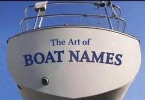 Sign writing boat names, stickers and banners in Singapore